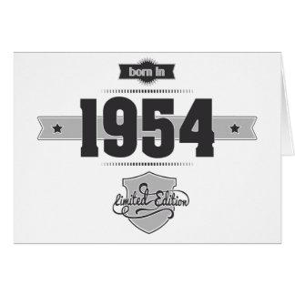 Born in 1954 (Dark&Lightgrey) Greeting Card