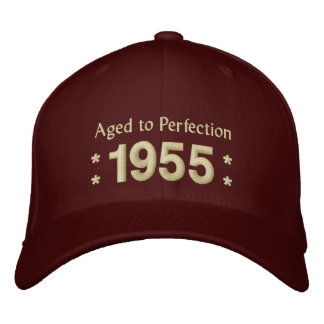 Born in 1955 AGED TO PERFECTION 60th Birthday V2E Embroidered Baseball Hat