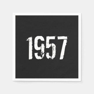 Born in 1957 Birthday Year Napkin