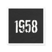 Born in 1958 60th Birthday Year Paper Napkin