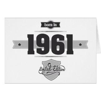 Born in 1961 (Dark&Lightgrey) Card