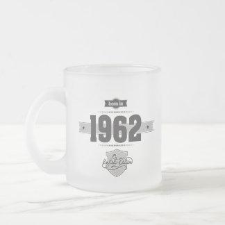 Born in 1962 (Dark&Lightgrey)Dark&LightgreyOK19 Frosted Glass Coffee Mug