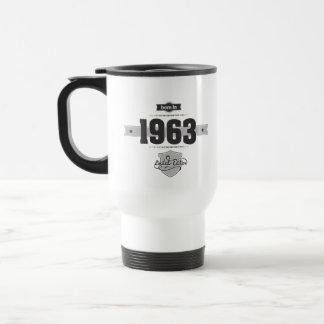 Born in 1963 Dark Lightgrey Mugs