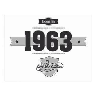 Born in 1963 (Dark&Lightgrey) Postcard