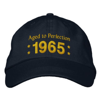 Born in 1965 AGED TO PERFECTION 50th Birthday V2F Embroidered Baseball Cap