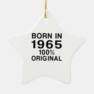 Born in 1965 ceramic ornament