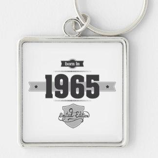 Born in 1965 (Dark&Lightgrey) Key Chain