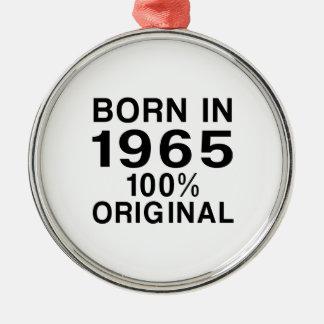 Born in 1965 metal ornament