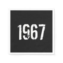 Born in 1967 50th Birthday Year Napkin