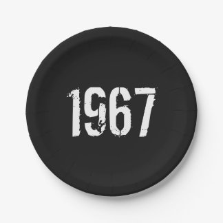 Born in 1967 50th Birthday Year Paper Plate