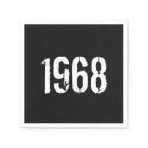 Born in 1968 50th Birthday Year Paper Napkins