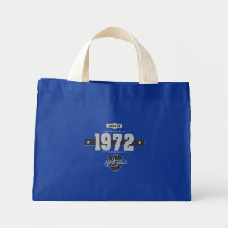 Born in 1972 (Light&Darkgrey) Mini Tote Bag