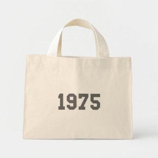 Born in 1975 mini tote bag