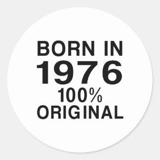 Born in 1976 classic round sticker