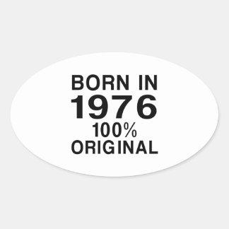 Born in 1976 oval sticker