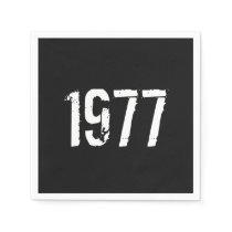 Born in 1977 Birthday Paper Napkin