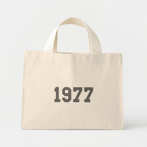 Born in 1977 canvas bags