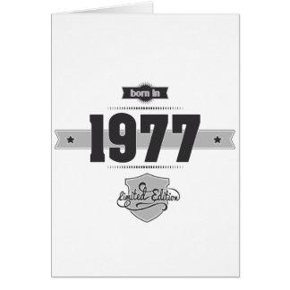 Born in 1977 (Dark&Lightgrey) Card