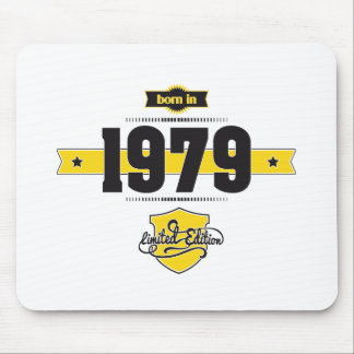 born in 1979 (choco&yellow) mouse pad