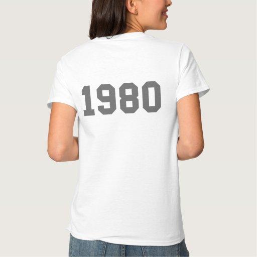 Born in 1980 tshirt