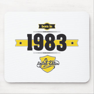 born in 1983 (choco&yellow) mouse pad