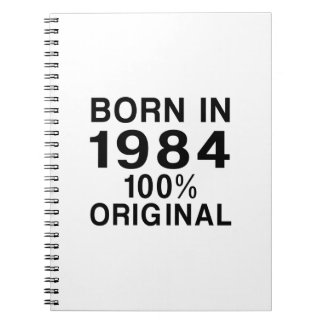 Born in 1984 notebook