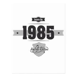 Born in 1985 Dark Lightgrey Postcard