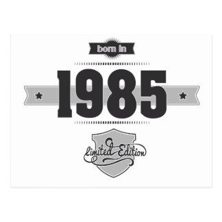 Born in 1985 Dark Lightgrey Post Card