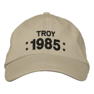 Born In 1985 Or Any Year 30th Birthday W06F OLIVE Embroidered Baseball Cap