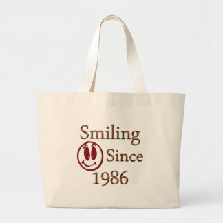 Born in 1986 large tote bag