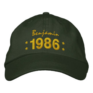 Born in 1986 or Any Year 30th Birthday V07F GREEN Embroidered Baseball Cap