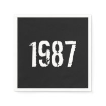 Born in 1987 30th Birthday Year Napkin