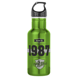 Born in 1987 (Dark&Lightgrey) 18oz Water Bottle