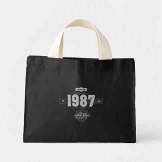 Born in 1987 (Light&Darkgrey) Mini Tote Bag
