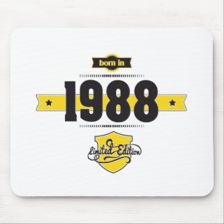born in 1988 (choco&yellow) mouse pad