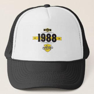 born in 1988 (choco&yellow) trucker hat