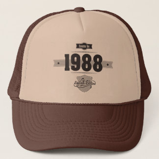 Born in 1988 (Dark&Lightgrey) Trucker Hat