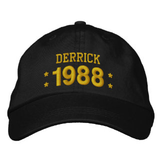 Born in 1988 or Any Year 30th Birthday V09F BROWN Embroidered Baseball Hat