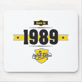 born in 1989 (choco&yellow) mouse pad
