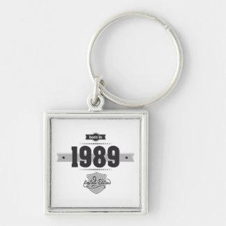 Born in 1989 (Dark&Lightgrey) Key Chain