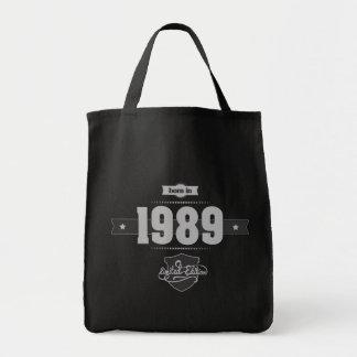 Born in 1989 (Light&Darkgrey) Tote Bag