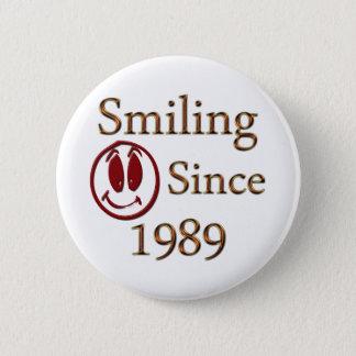 Born in 1989 pinback button