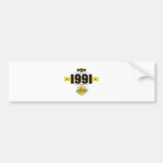 born in 1991 (choco&yellow) bumper sticker