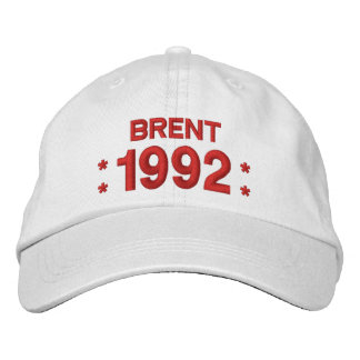 Born in 1992 or Any Year 25th Birthday W03G WHITE Embroidered Baseball Cap