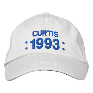 Born in 1993 or Any Year 25th Birthday W04G WHITE Embroidered Hats