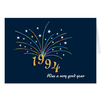 Born in 1994 - 21st Birthday Greeting Card