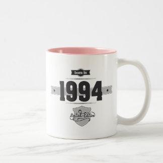 Born in 1994 (Dark&Lightgrey) Two-Tone Coffee Mug
