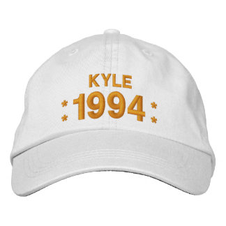 Born in 1994 or Any Year 21st Birthday W05G WHITE Embroidered Hat