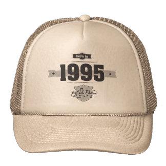 Born in 1995 Dark Lightgrey Trucker Hats