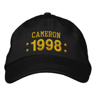 Born in 1998 or Any Year 21st Birthday V09G BROWN Embroidered Baseball Caps